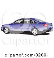 Clipart Illustration Of A Purple Audi Car
