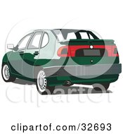Clipart Illustration Of A Green Chrysler Cordoba Car