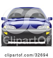 Clipart Illustration Of A Blue Chevy Cavalier