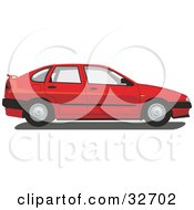 Clipart Illustration Of A Red Chrysler Cordoba Car