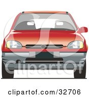 Clipart Illustration Of A Compact Red Chevrolet Car