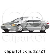 Clipart Illustration Of A Gray Chrysler Cirrus Car
