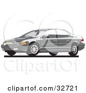 Clipart Illustration Of A Gray Chrysler Cirrus Car