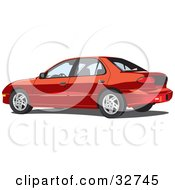 Clipart Illustration Of A Red Pontiac Sunfire Car