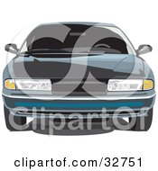 Clipart Illustration Of A Front View Of A Chrysler LHS Car