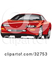Clipart Illustration Of A Red Chevrolet Camaro Sports Car