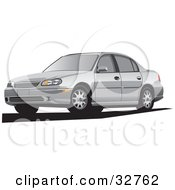 Clipart Illustration Of A Silver Chevrolet Malibu Cars