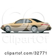 Clipart Illustration Of A Gold Lincoln Mark Car