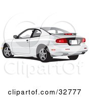 Clipart Illustration Of A White Pontiac Sunfire Car