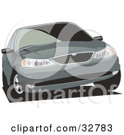 Clipart Illustration Of A Ford Contour Or Mercury Mystique Car With Privacy Glass