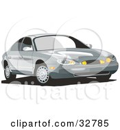 Clipart Illustration Of A Silver Mercury Sable Car