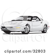 Clipart Illustration Of A White Pontiac Firebird Car