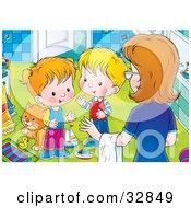Pick Up Toys Clipart For Kids Children to clean up the