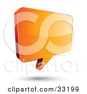 Clipart Illustration Of A Shiny Orange Instant Messenger Chat Window by beboy