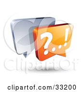 Clipart Illustration Of Silver And Orange Live Chat Messenger Windows by beboy