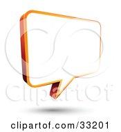 Blank White Instant Messenger Chat Window Bordered In Orange
