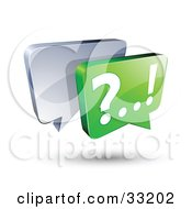 Silver And Green Live Chat Messenger Windows