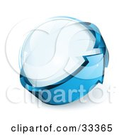 Clipart Illustration Of A Transparent Orb Being Circled By A Blue Arrow by beboy
