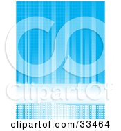 Blue Background Of Gradient Blue Lines Dots And A Bar With A Grid Pattern by elaineitalia