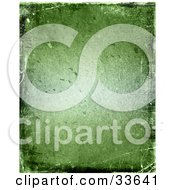 Green Grungy Textured Background With Bumps And Scratches