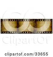 Three Frames Of A Brown Grunge Film Strip