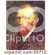 Clipart Illustration Of Van Goghs Self Portrait by JVPD