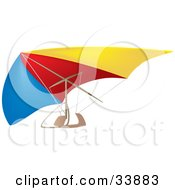 Colorful Hang Glider In The Air