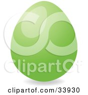 Clipart Illustration Of A Shiny Easter Egg Dyed Green