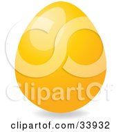 Clipart Illustration Of A Shiny Easter Egg Dyed Orange