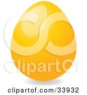 Clipart Illustration Of A Shiny Easter Egg Dyed Orange