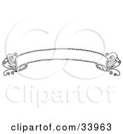 Clipart Illustration Of An Elegant Black And White Banner