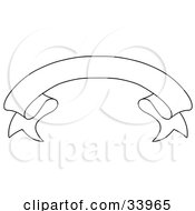 Clipart Illustration Of A Black And White Arched Banner With Space For Text