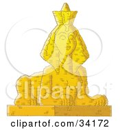 Clipart Illustration Of An Egyptian Sphinx Statue by Alex Bannykh