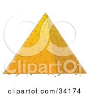 Clipart Illustration Of An Egyptian Pyramid by Alex Bannykh