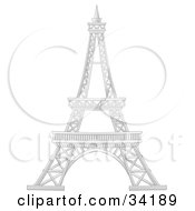 Clipart Illustration Of Paris Frances Eiffel Tower