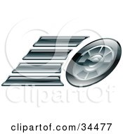 Clipart Illustration Of A Race Cars Tire by AtStockIllustration