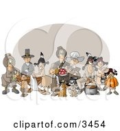 Thanksgiving Feast Clipart by Dennis Cox