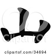 Clipart Illustration Of A Black Chinese Symbol Meaning Hill