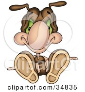 Clipart Illustration Of A Fallen Cute Brown Ant Character by dero