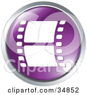 Clipart Illustration Of A Film Strip On A Purple Website Button