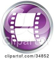Film Strip On A Purple Website Button