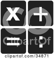 Clipart Illustration Of Mathematical Symbols Multiplication Addition Equal And Colon by Alexia Lougiaki