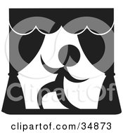 Clipart Illustration Of An Actor Being Dramatic During A Play On A Stage by Alexia Lougiaki #COLLC34873-0043