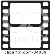 Clipart Illustration Of Two Blank White Frames Of A Film Strip