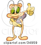 Clipart Illustration Of A Beetle Holding His Hands As If Presenting Something by dero