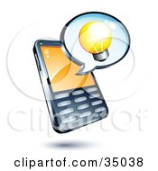 Lightbulb On An Instant Messenger Window Over A Cell Phone