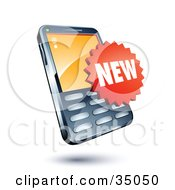 Clipart Illustration Of A New Sticker On A Cellphone by beboy