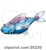 Clipart Illustration Of A Gradient Blue And Purple Fish by dero