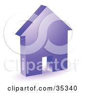 Clipart Illustration Of A Purple House Icon With A Doorway