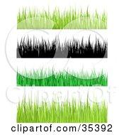 Border Of Yellowish Blades Of Grass